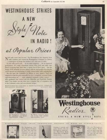 Westinghouse Electric & Manufacturing Company's Various – Westinghouse Strikes a New Style Note in Radio! at Popular Prices (1931)