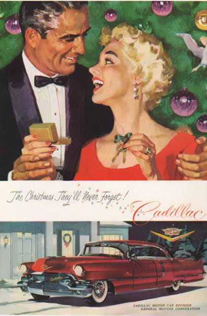 Cadillac Car – Christmas – Burgundy (1955)