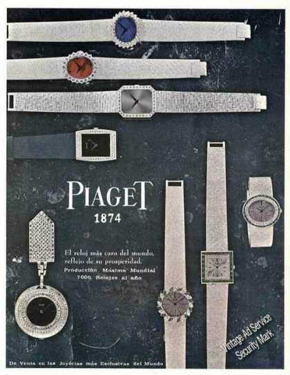 Piaget 1874 Wristwatches (8) Spanish Language (1966)