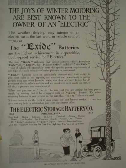 Electric Storage Battery Co Exide AND Bailey Blanks and Biddle Co Jewel Exhibit (1913)