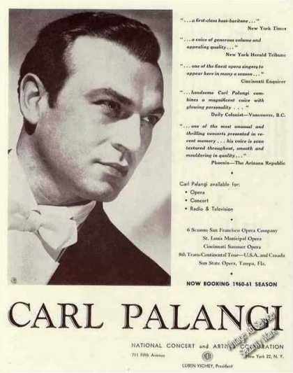Carl Palangi Photo Baritone Booking (1960)