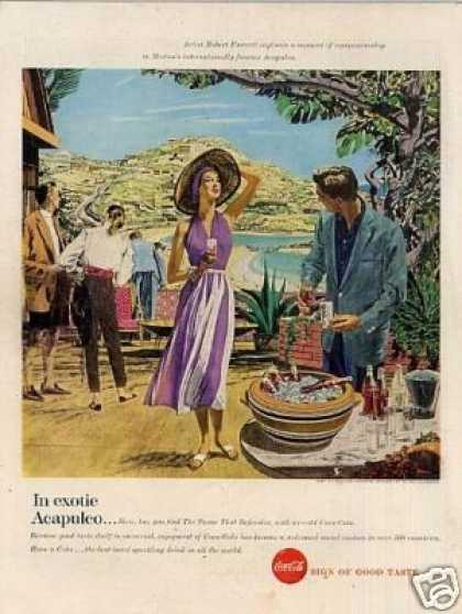 "Coca-cola Ad ""In Exotic Acapulco... (1957)"