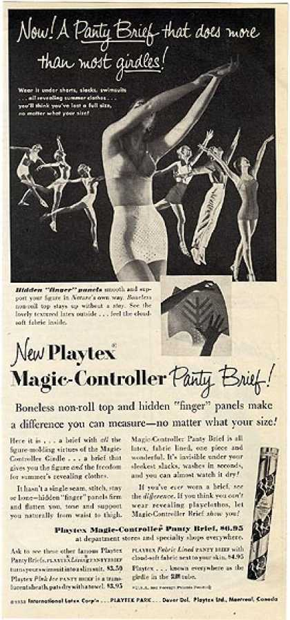 Playtex's Magic-Controller Panty Brief (1953)