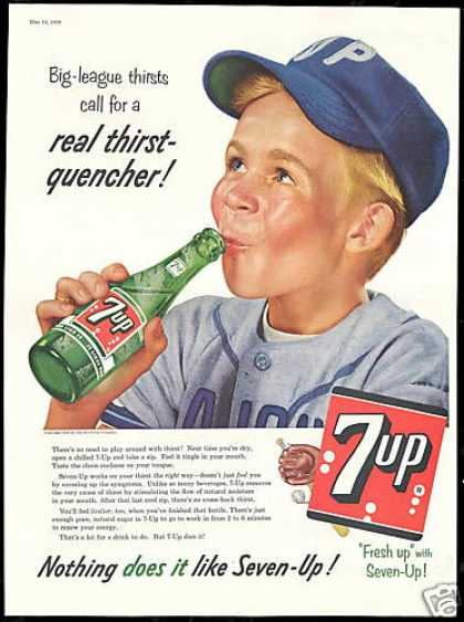 Baseball Little League Boy 7up 7-up Seven up (1956)