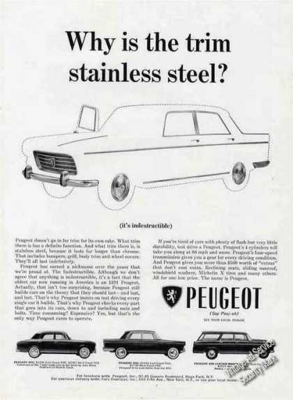 "Peugeot ""Why Is the Trim Stainless Steel?"" Car (1964)"