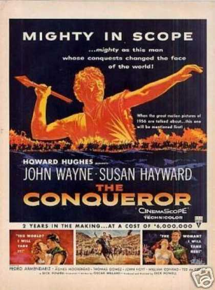"Movie Ad ""The Conqueror"" John Wayne (1956)"