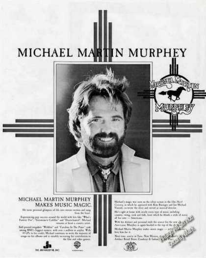 Michael Martin Murphey Photo Music Booking (1987)