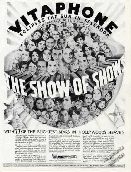 "Vitaphone Movie Ad ""The Show of Shows"" (1930)"