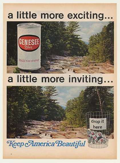Genesee Beer Can Stream Keep America Beautiful (1968)
