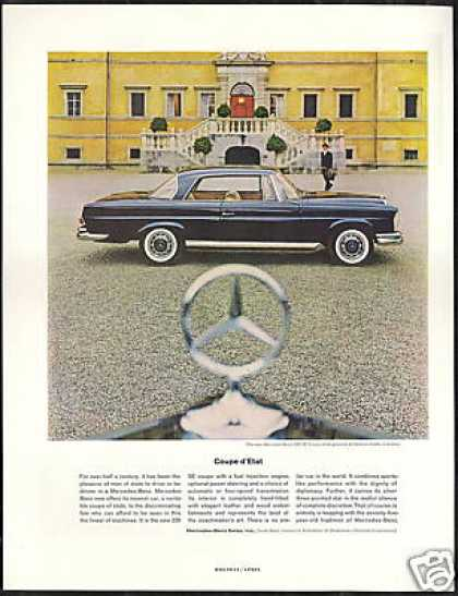 Mercedes Benz 220 SE Coupe Photo Vintage Car (1962)