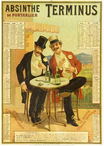 Absinthe Terminus Calender (1894)