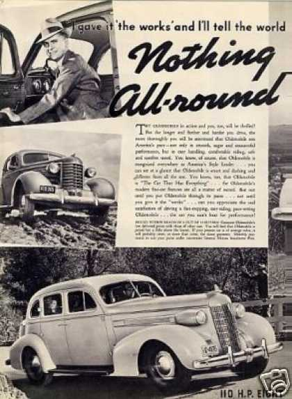 Oldsmobile Cars Ad 2 Page (1937)