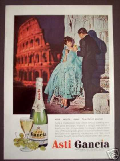 Asti Gancia Italian Sparkling Wine Rome Photo (1962)