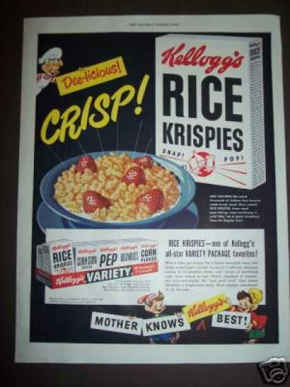 Original Rice Krispies Cereal Snap Crackle Pop (1949)
