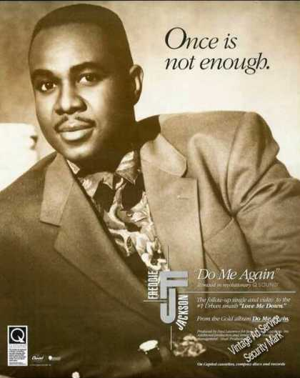 Freddie Jackson Photo Once Is Nor Enough Album (1991)