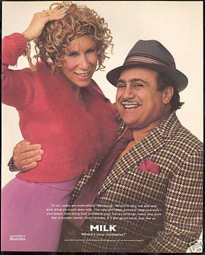 Danny Devito Rhea Perlman Photo Milk Board (1996)