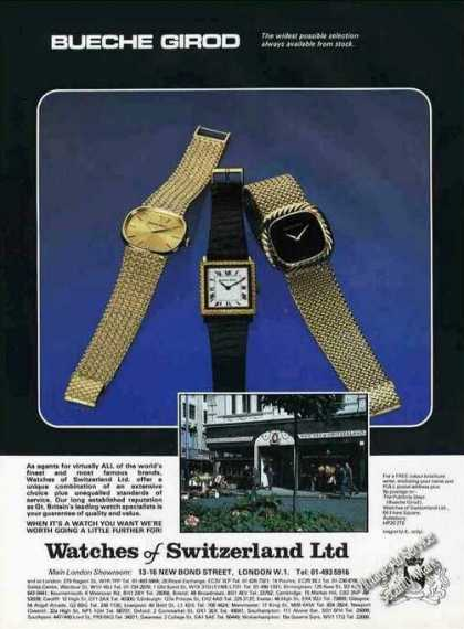 Bueche Girod-watches of Switzerland Uk (1978)