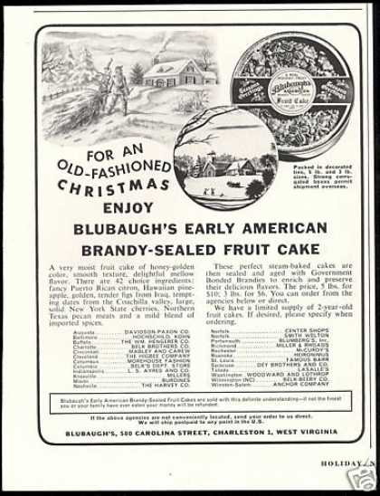 Blubaugh's Brandy Fruit Cake (1953)