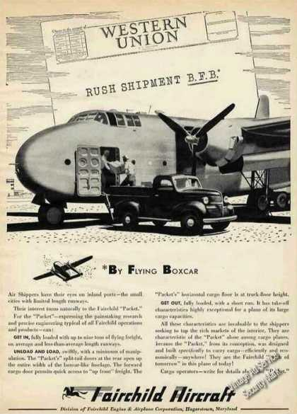 "Fairchild ""Packet"" Flying Boxcar Collectible (1946)"