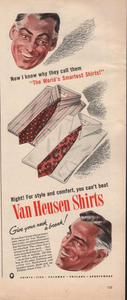 Van Heusen Mens Dress Shirts (1942)