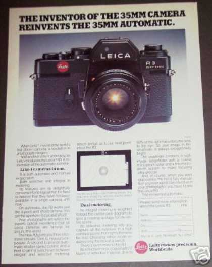Leica R3 Dual Metering 35mm Camera (1977)