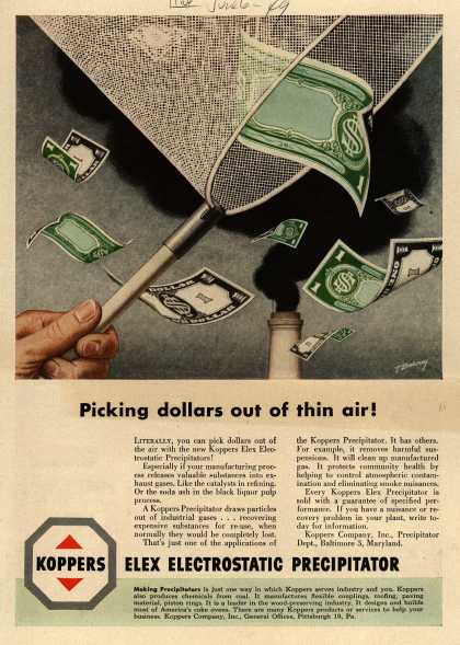 Koppers Company, Incorporated's Elex Electrostatic Precipitators – Picking Dollars Out of Thin Air (1949)