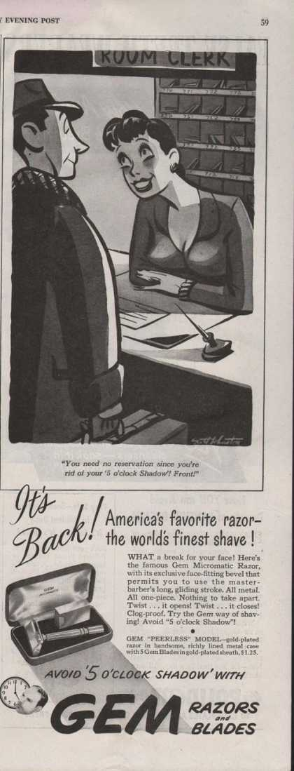 Gem Razors and Blades for Shaving (1942)