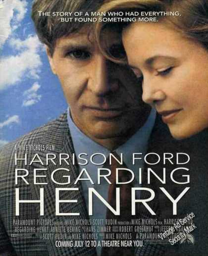 "Harrison Ford In ""Regarding Henry"" Pre-release (1991)"