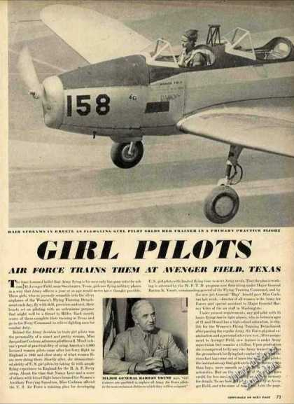 Wwii Girl Pilots Avenger Field Tx Photos Article (1943)