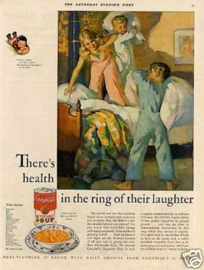 Campbell's Vegetable Soup Ad 'there's Health... (1931)