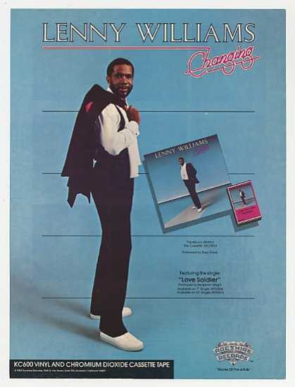 Lenny Williams Changing Album Promo Photo (1983)