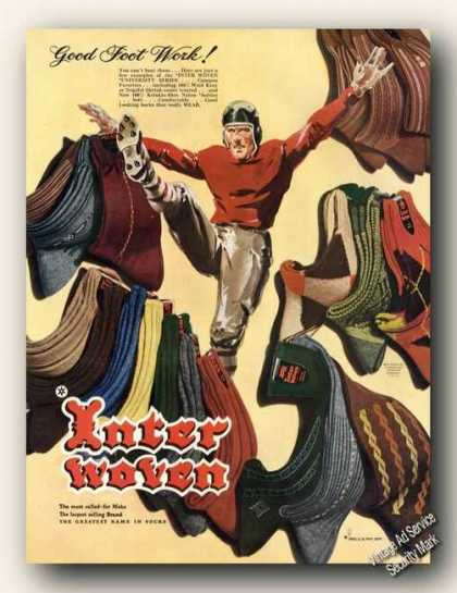 Nice Football Theme Art Interwoven Socks (1948)