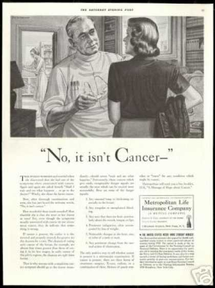 Woman Doctor Cancer Signs Metropolitan Life Ins (1942)