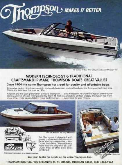 Thompson Makes It Better St Charles Mi Boat (1985)