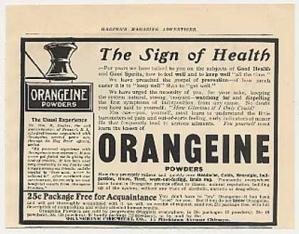 Orangeine Powders Health Medicine (1905)