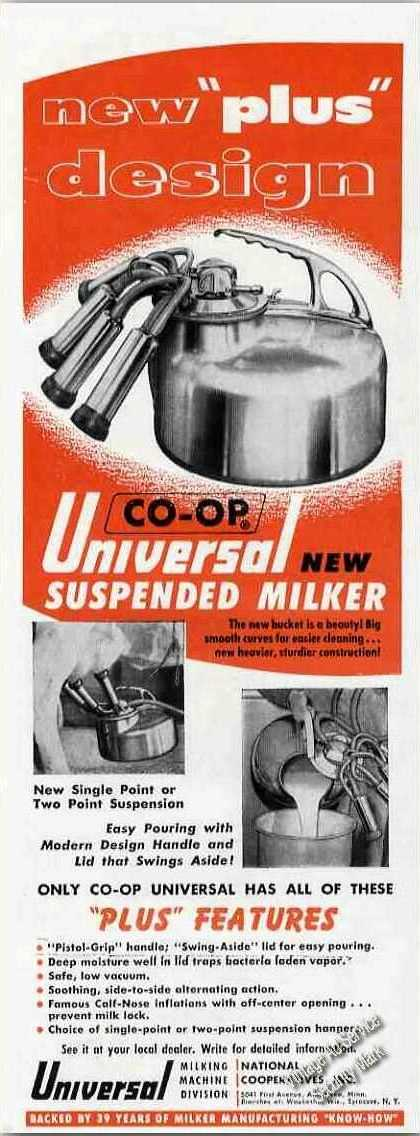 Co-op Universal Suspended Milker Photos Farm (1955)
