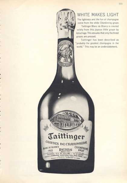 Taittinger Comtes De Champagne Bottle (1963)