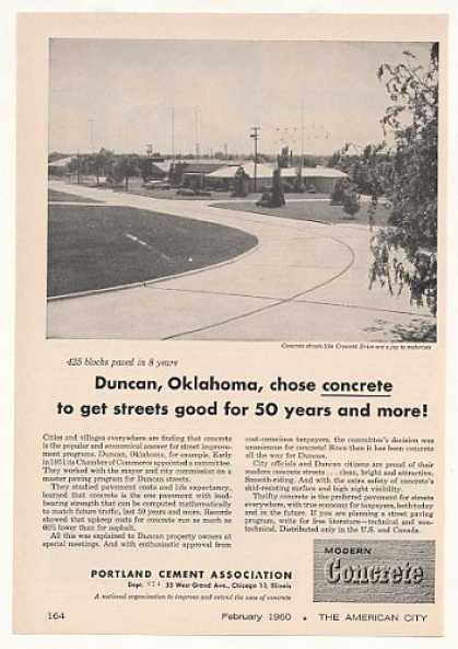 Crescent Drive Duncan OK Portland Cement Photo (1960)