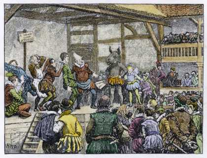"Performance of Shakespeare's ""Midsummer Night's Dream"" in an Elizabethan Playhouse"