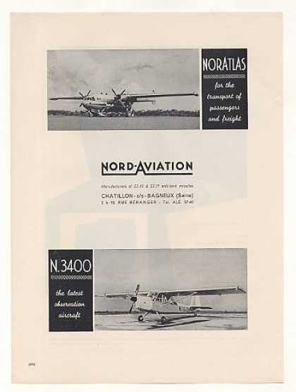 Nord Aviation NorAtlas N 3400 Aircraft Photo (1960)