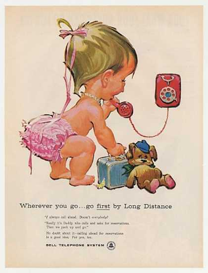 '60 Betsy Bell Telephone Bear Suitcase Long Distance (1960)