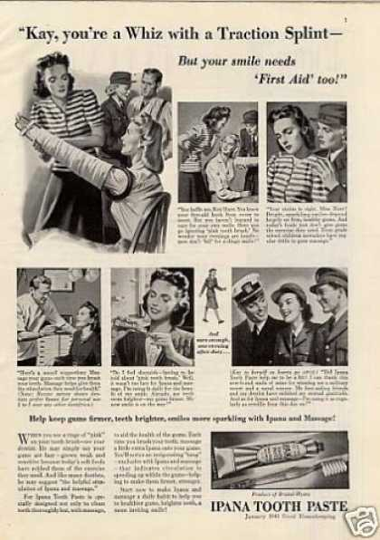 "Ipana Tooth Paste Ad ""Kay, You're a Whiz... (1943)"