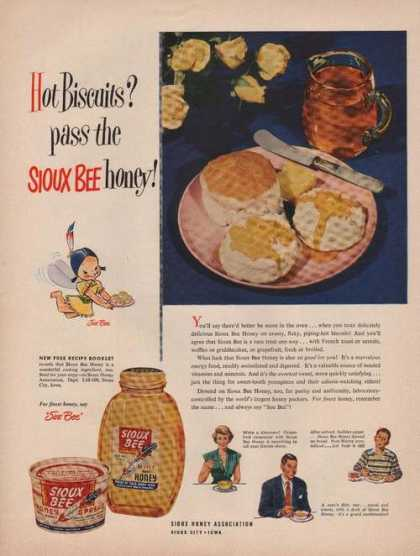Sioux Bee Clover Pure Honey (1949)