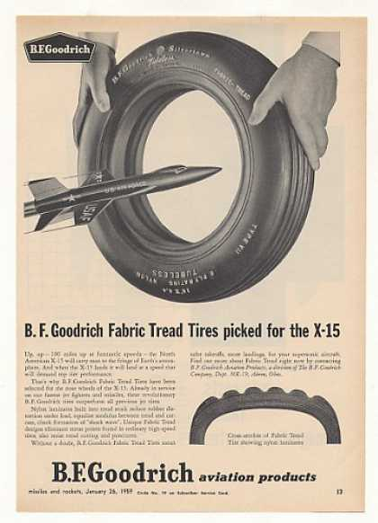 US Air Force X-15 Aircraft BF Goodrich Tires (1959)