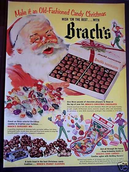 Brach's Chocolates Christmas Santa Claus (1952)