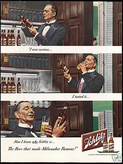 Famous Milwaukee Schlitz Beer I Was Curious (1949)