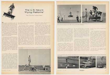 US Navy Flying Platform Aircraft 3-P Photo Article (1955)