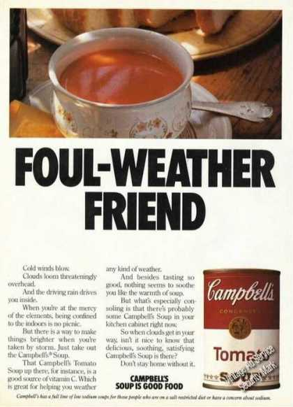 Campbells Tomato Soup Foul-weather Friend Promo (1984)