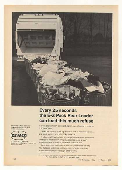 E-Z Pack Rear Loader Refuse Garbage Truck (1969)