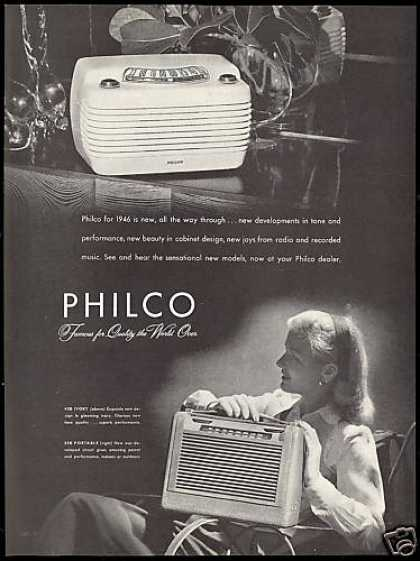 Philco Table Top & Portable Radio (1946)